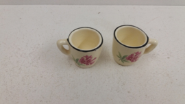 Minibekertjes met roze bloem  / Mini cups with pink flower