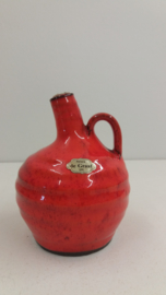Potterie de Graaf vuurtest rood oranje / Pottery de Graaf fire tess red orange