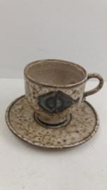 Kop en schotel Hannie Mein keramiek / Cup and Saucer Hannie Mein ceramics