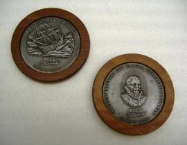 Set van 2 Herdenkingsmunten Willem Barentzjaar 1996 / commemorative coins