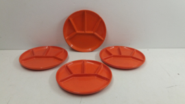 Fondue borden in Oranje van Gerz / Fondue plates in Orange by Gerz