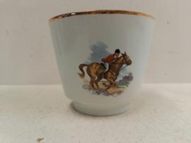 Frankton bloempot met ruiter op paard / Frankton flower pot with rider on horse