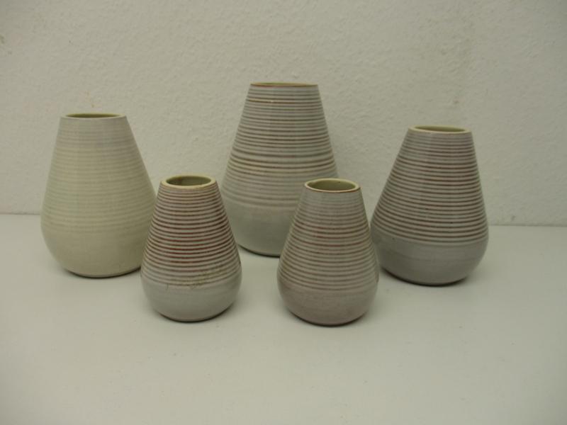 Wim de Visser Sphinx 5 vaasjes / Wim de Visser Sphinx set off 5 vases