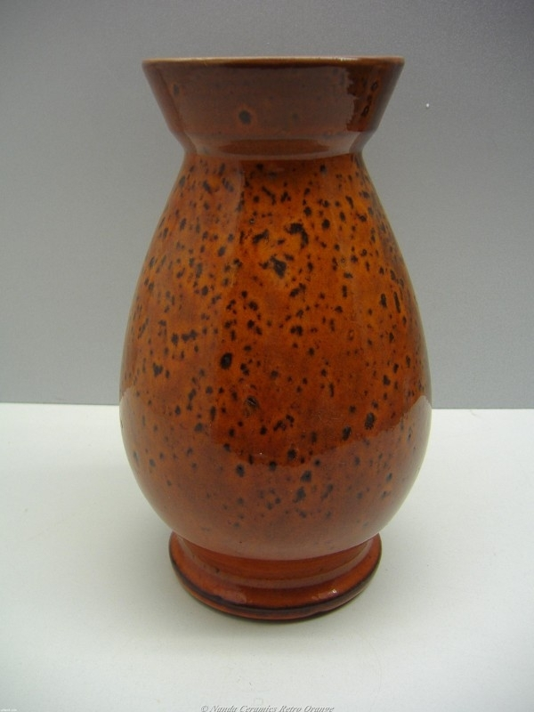 Betere Grote oranje vaas Gnodde / Big orange vase made by Gnodde Holland JD-99