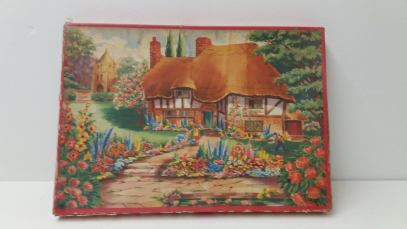 Wooden Jigsaw puzzel landhuis / Wooden Jigsaw puzzle country house
