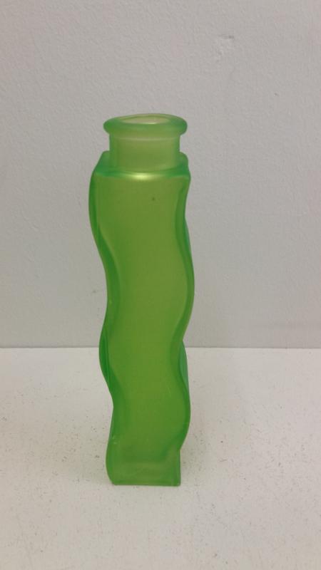 Ikea kaarsenstandaard glas fles groen / Ikea candle stand glass green