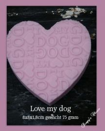 I love my dog hart mal