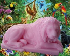 3D Liggende leeuw mal