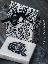 zeepdoosjes brocant zwart&wit