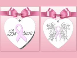 Pink Ribbon geursteen/zeep mallen