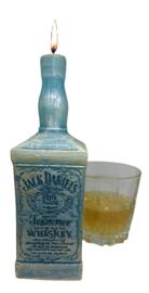Whiskey fles kaarsmal