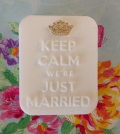 Keep calm we're just married mal
