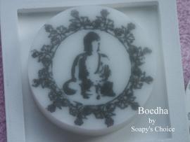 Mal voor Ronde zeep met Boedha