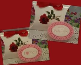 Doosje met Valentijn zeepje idee