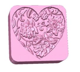 Vierkant hart 1 mal