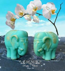 sierlijke olifant mal