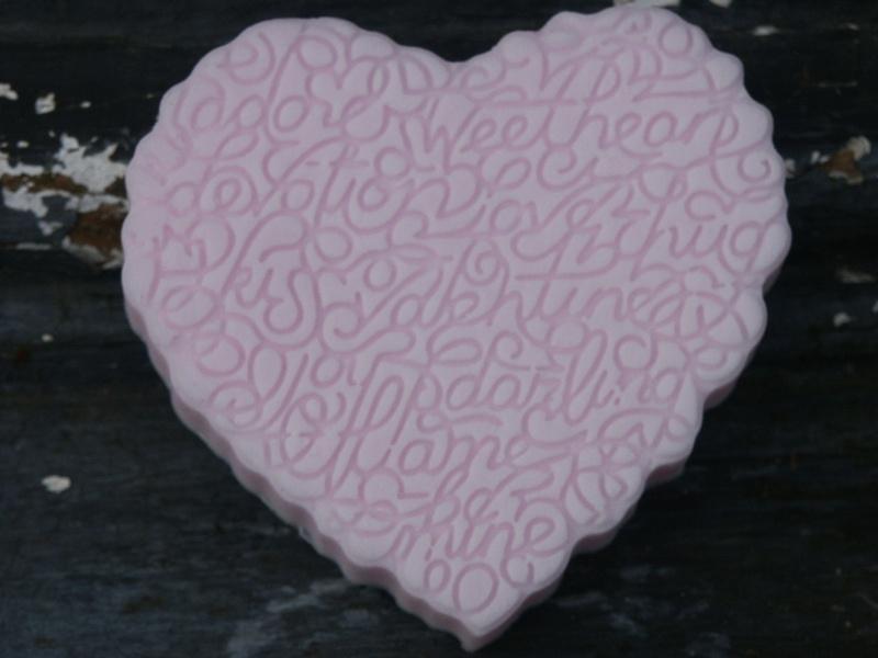 mal voor hart met romantische tekst