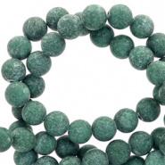 Kraal groen storm mat 6 mm half edelsteen jade
