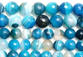 Natuursteen kraal blauw Agate 4 mm