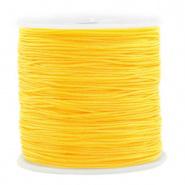 Macramé draad geel 0,8 mm