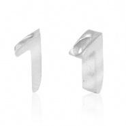 Cijferkraal 1 zilver RVS