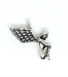 Bedel engel zilver donker