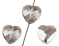 Facetkraal zwart diamond hart