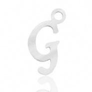 Bedel letter G RVS zilver