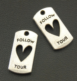 Bedel follow your heart zilver