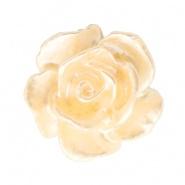 Bloem kraal abrikoos butter pearl shine roosje 10 mm