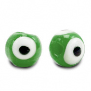 Evil eye kralen groen classic 6 mm glas