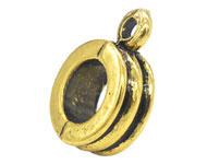 Kraal met oogje goudkleurig Ø 5 mm