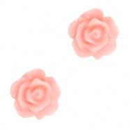 Bloem kraal roze bridal roosje 10 mm