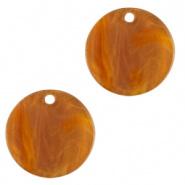 Resin hanger rond 12 mm bruin gold