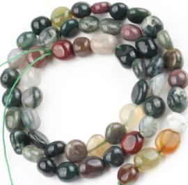 Natuursteen nugget kralen Indian Agate 10 stuks 5-9 mm