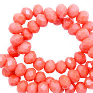 Facetkraal rood coral 3x2 mm 290 stuks