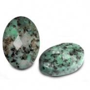 Kraal groen turquoise ovaal half edelsteen