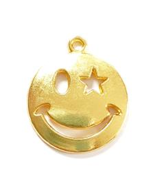 Bedel smiley knipoog goud