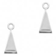 Schuifkraal driehoek met oogje zilver DQ