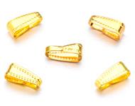 Klemmetje voor hanger goudkleurig 11x4 mm