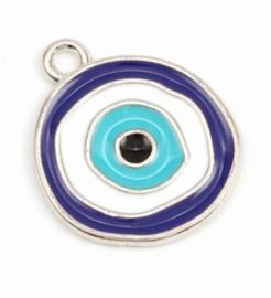 Bedel evil eye blauw zilver