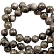 Schelp kraal bruin grijs multicolor donker 4 mm