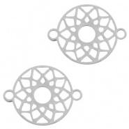 Bedel / connector / tussenstuk mandala RVS
