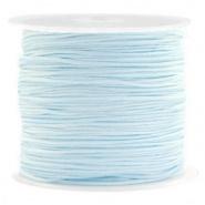 Macramé draad blauw turquoise licht 0,8 mm