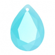 Druppelvorm hanger blauw turquoise opal SQ