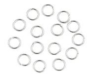 Open ring zilver 6 mm 115 stuks donker