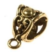 Kraal met oogje goudkleurig Ø 6,2x5,3 mm