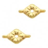 Bedel / connector / tussenstuk ruit goudkleurig DQ