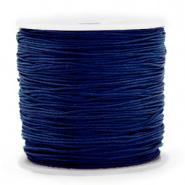 Macramé draad blauw solite donker 0,8 mm