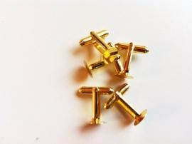 Manchetknoop 10 mm goudkleurig